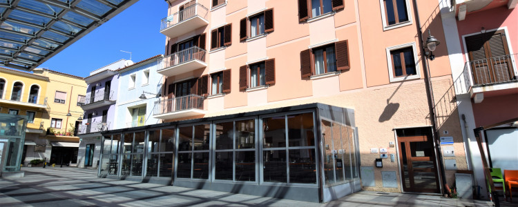 An elegant building in Olbia centre
